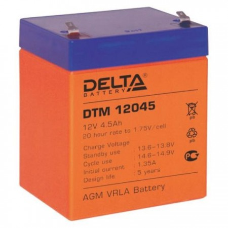 Аккумулятор Delta DTM 12045 (12В/4.5Ач)