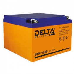 Аккумулятор Delta DTM 1226 (12В/26Ач)