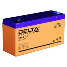 Аккумулятор Delta HR 6-15 (6В/15Ач)