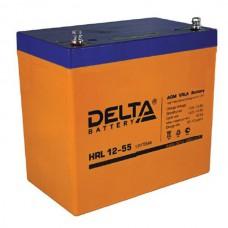 Аккумулятор Delta HRL 12-55 (12В/55Ач)