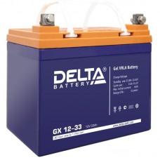 Аккумулятор Delta GX 12-33 (12В/33Ач)