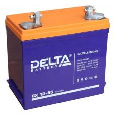 Аккумулятор Delta GX 12-55 (12В/55Ач)