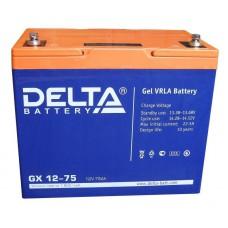 Аккумулятор Delta GX 12-75 (12В/75Ач)