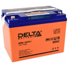 Аккумулятор Delta DTM 1275 I (12В / 75Ач)