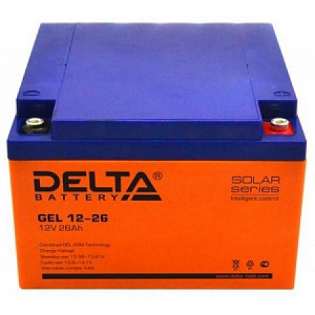 Аккумулятор Delta GEL 12-26 (12В / 26Ач )
