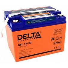 Аккумулятор Delta GEL 12-33 (12В / 33Ач )