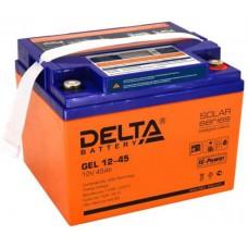 Аккумулятор Delta GEL 12-45 (12В / 45Ач )
