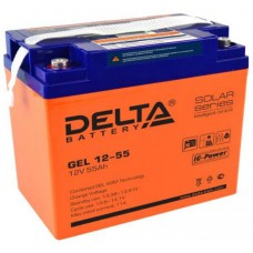 Аккумулятор Delta GEL 12-55 (12В / 55Ач)