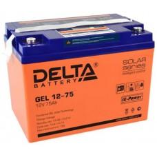 Аккумулятор Delta GEL 12-75 (12В / 75Ач)