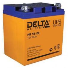 Аккумулятор Delta HR 12-26 L (12В/26Ач)