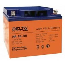 Аккумулятор Delta HR 12-40 L (12В/40Ач)