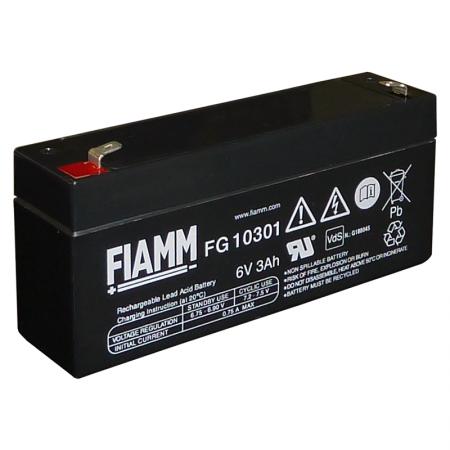 Аккумулятор FIAMM FG 10301 (6В/3Ач)