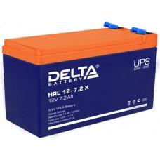Аккумулятор Delta HRL 12-7,2 X (12 В / 7,2 Ач)
