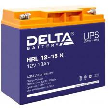 Аккумулятор Delta HRL 12-18 X (12В/18Ач)