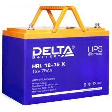Аккумулятор Delta HRL 12-75 X (12В/75Ач)